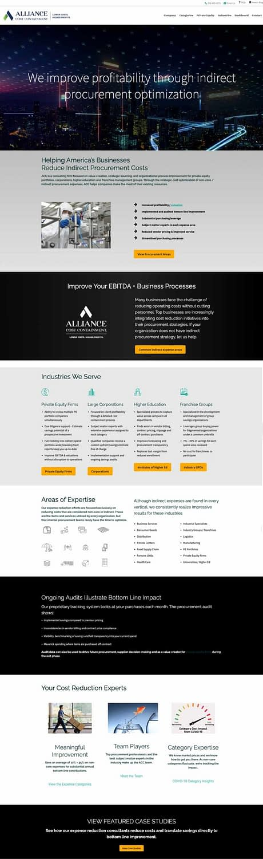 ACC Website homepage screenshot Custom wordpress website Design
