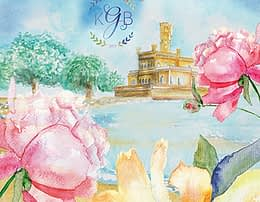Featured Image International bilingual wedding invitation - watercolor illustrations German and English