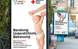 Brand Launch Billboard Design by Kelly Gold or German Red Cross