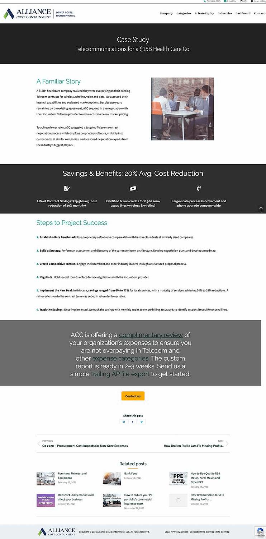 Telecom Cost Reduction Screenshot Blogpost