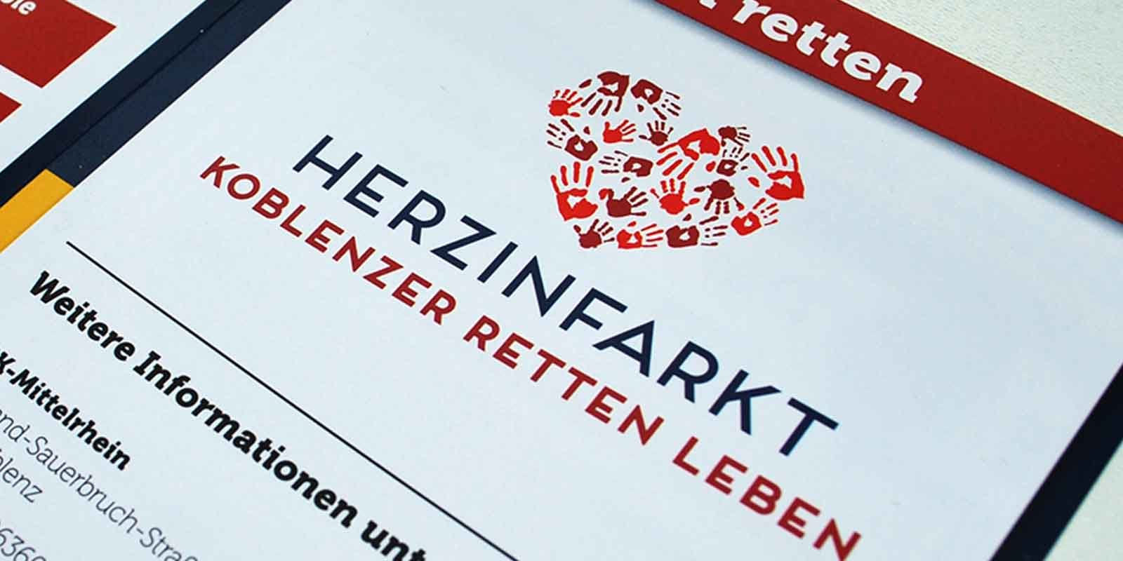 German Red Cross Campaign Designed by Kelly Gold - Herzinfarkt Koblenzer Retten Leben