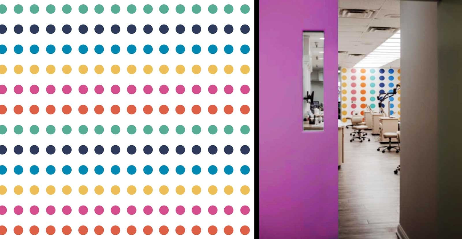 George Ortho dot pattern and interior design brand Kelly Gold Creative Design