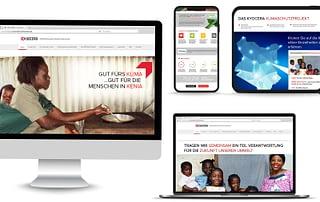 Front End Web Design for Kyocera Print Green Website