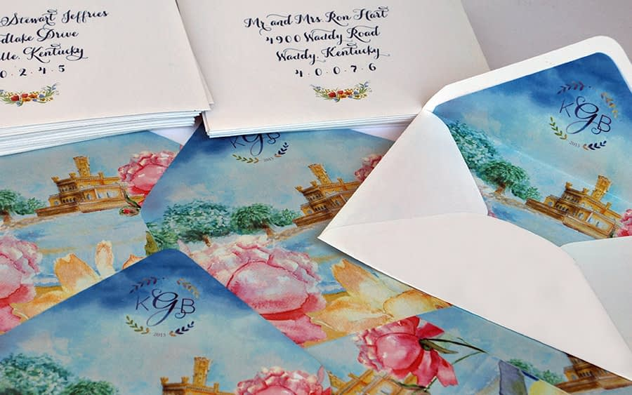 International bilingual wedding invitaiton