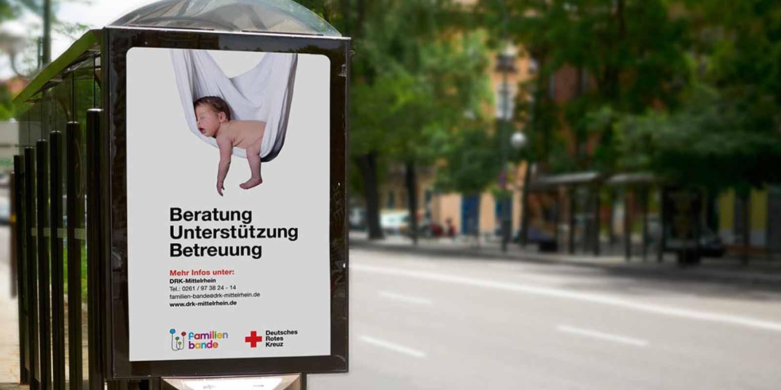 German Red Cross Deutsche Rote Kreuz bus ad