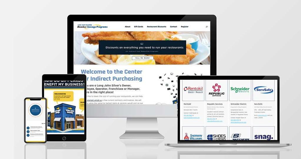 Website and UX design for Long John Silver's QSR